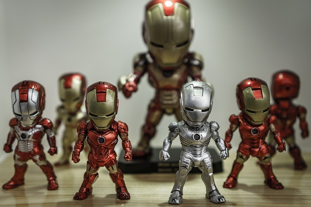 Action figures posed in power