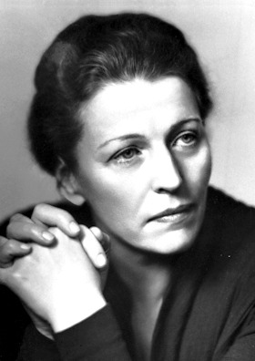 Black and white photo of Pearl Buck