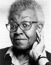 Black and white photo of Writer & Pulitzer Prize Winner Gwendolyn Brooks
