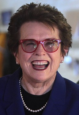 Tennis star Billie Jean King smiling