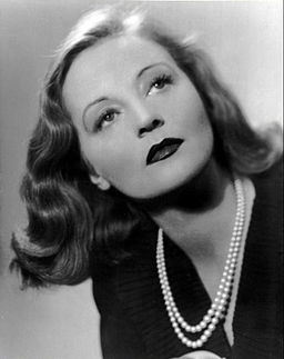Black and white portrait of Tallulah Bankhead