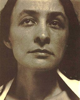 Close-up portrait of Georgia O'keeffe