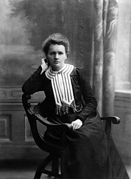 Black and white portrait of Scientist Marie Curie