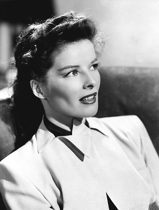 Black and white photo of Katharine Hepburn