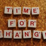 Scrabble letters announcing time for change