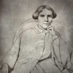 Drawing of Elizabeth Blackwell portrait